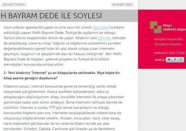 Mehmet Doğan'ın benimle yaptığı röportaj