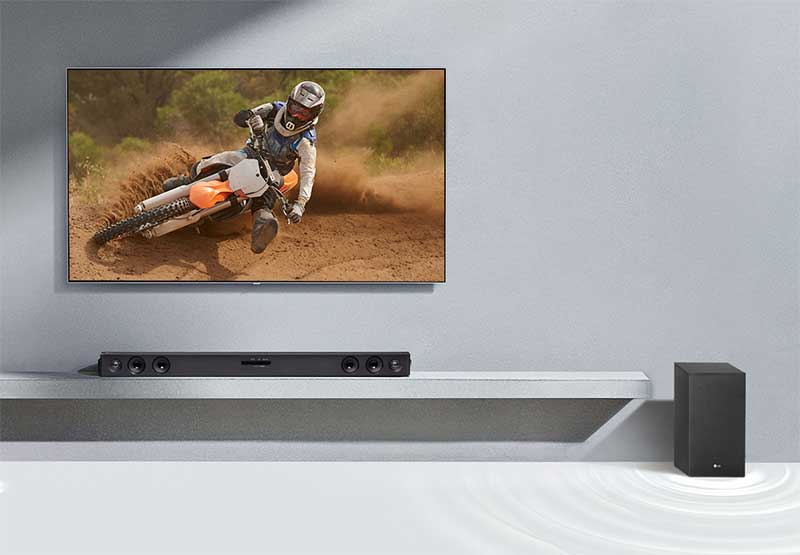 LG SJ3 300W 2.1 kanal Soundbar: