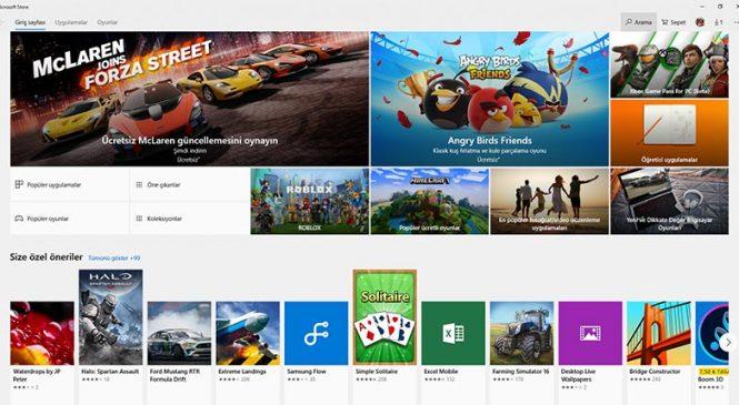 Microsoft Store'daki en popüler ücretsiz uygulamalar
