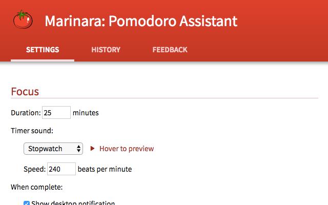 Marinara: Pomodoro Assistant